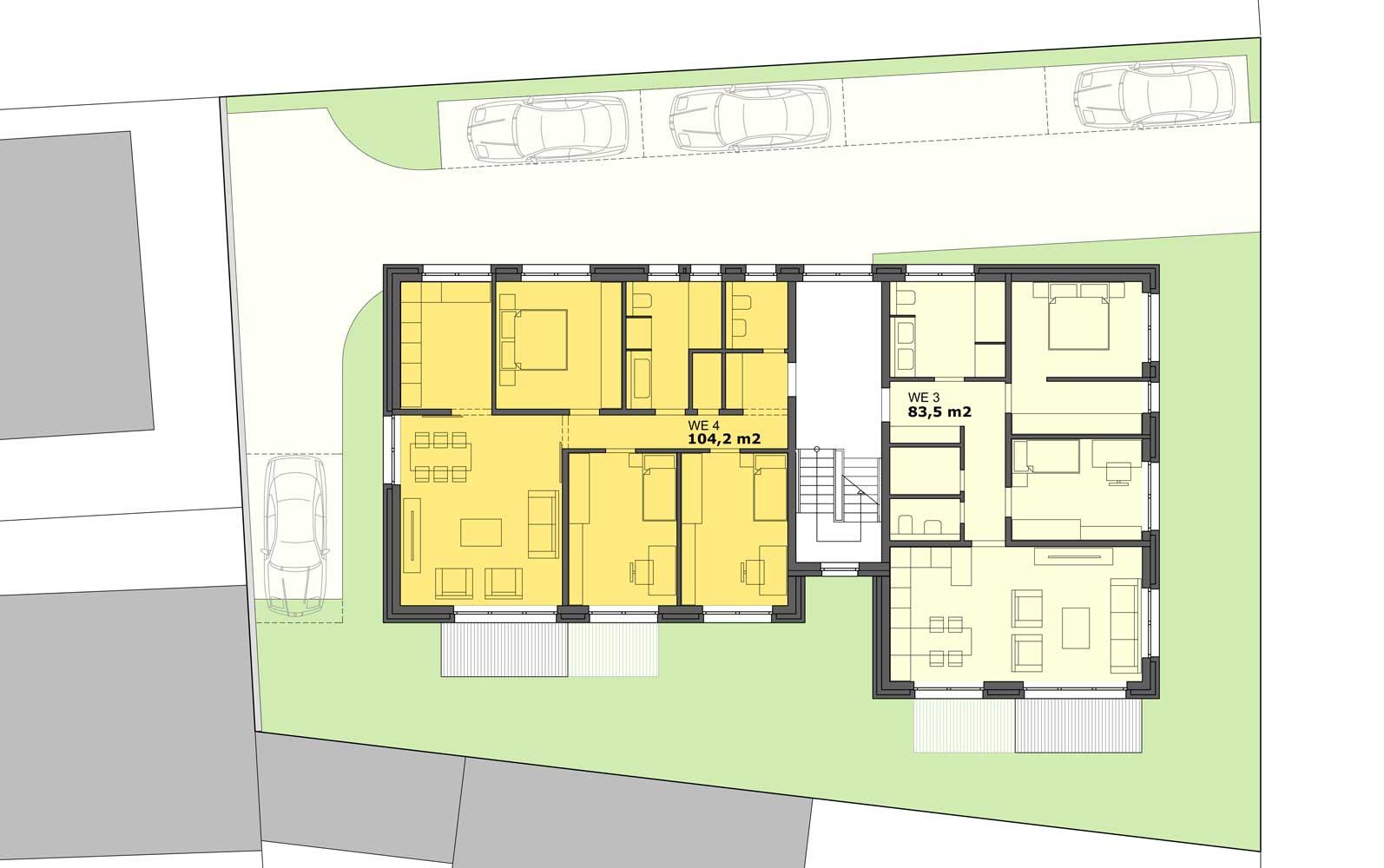 neubau mehrfamilienhaus querum bs sabi architekten partgmbb. Black Bedroom Furniture Sets. Home Design Ideas